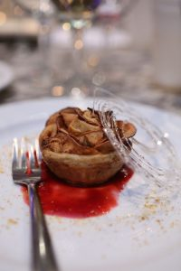Chef Heather Zimmer of Chatham Breakfast House & Grille's Cheddar Apple Pastry Rose paired wth Mead by Munro's Winery