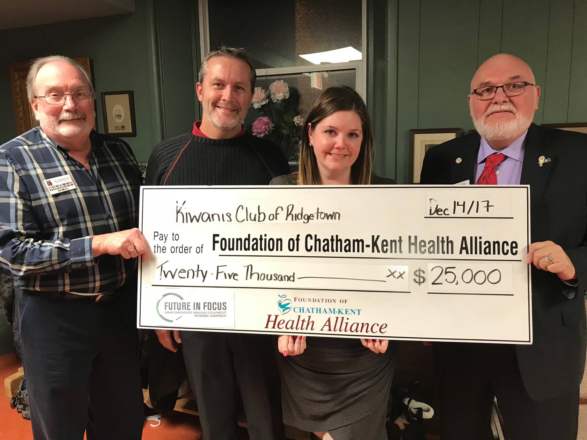 Kiwanis Donates Their Largest Local Donation In History