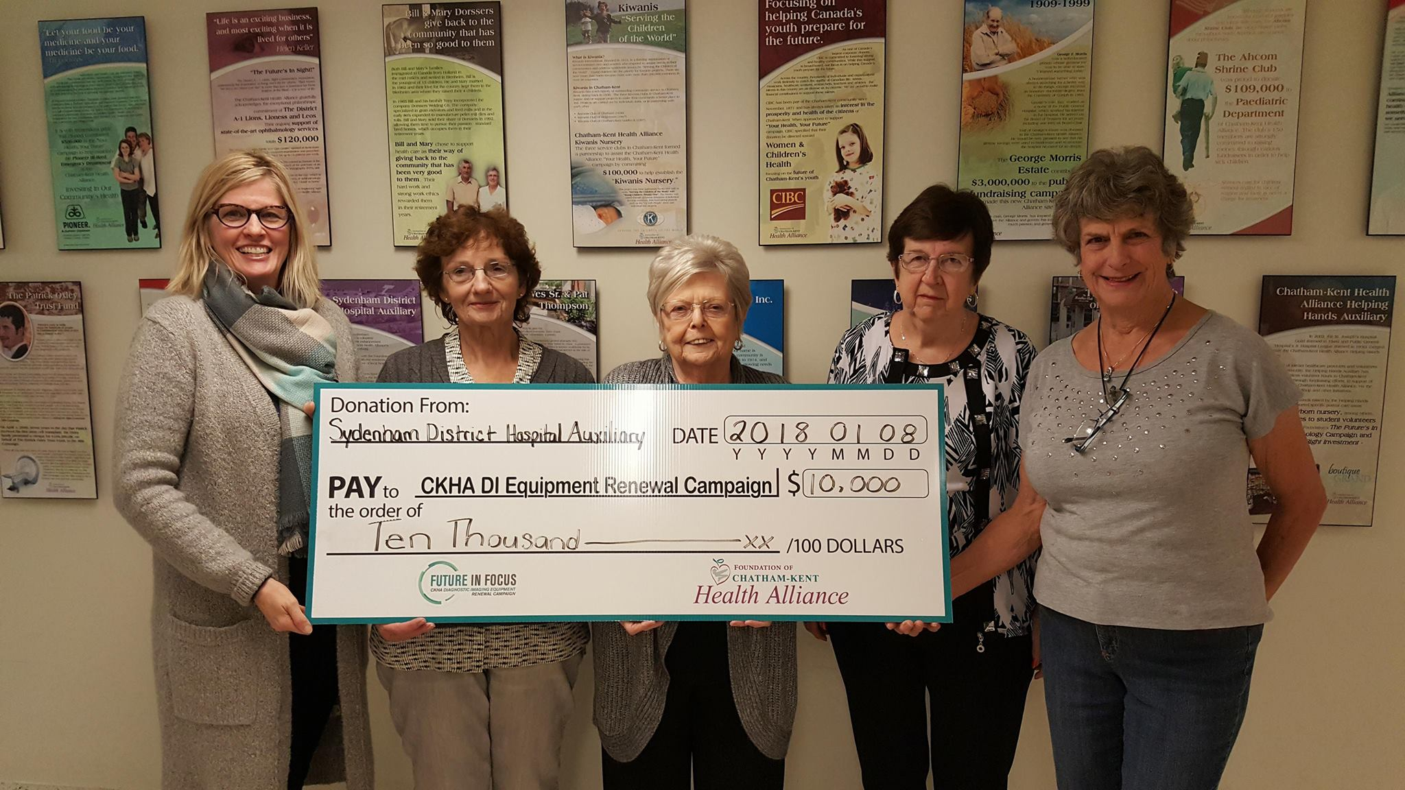 Sydenham Auxiliary Gives Boost to DI Campaign